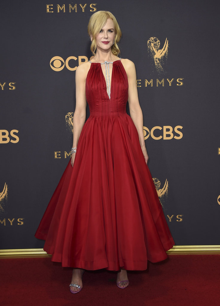 Nicole Kidman arrives at the 69th Primetime Emmy Awards on Sunday, Sept. 17, 2017, at the Microsoft Theater in Los Angeles.