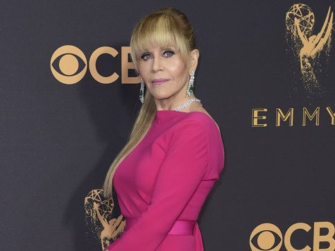 Jane Fonda arrives at the 69th Primetime Emmy Awards on Sunday, Sept. 17, 2017, at the Microsoft Theater in Los Angeles.
