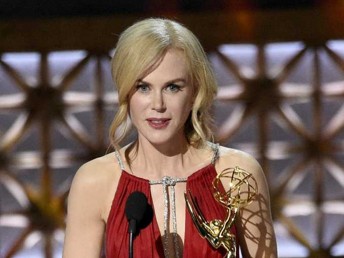 Nicole Kidman accepts the award for outstanding lead actress in a limited series or a movie for Big Little Lies at the 69th Primetime Emmy Awards.