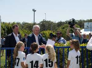 Malcolm Turnbull at C.ex Stadium