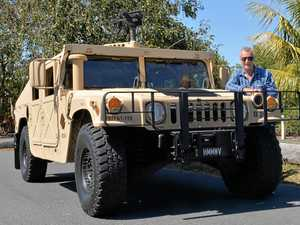 Humming along in the Humvee