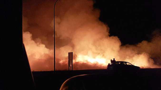 BIG SMOKE: A grass fire in Ferny Ave, Avoca. Photo by Steven Shields.