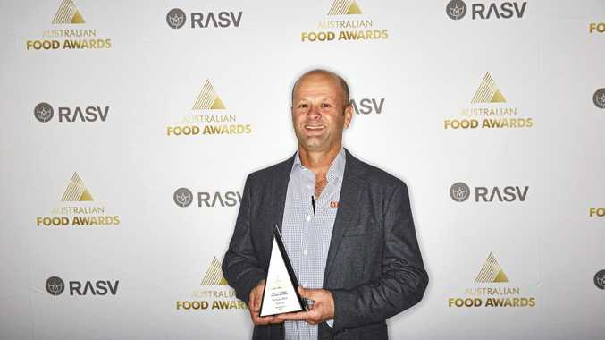 WINNER: Stockyard's David Clarke accepts the Champion Australian Meat Trophy at the Australian Food Awards.