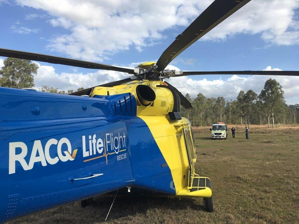 Two men were injured in separate horse riding accidents near Gympie on Sunday, at Widgee and Curra.