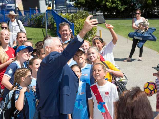 Prime Minister Malcolm Turnbull officially opened the new transport hub at the C.ex Coffs International Stadium.