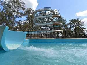 15m high water slide opening this week