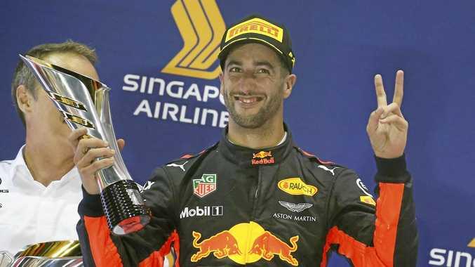 Daniel Ricciardo before letting rip at the press conference.