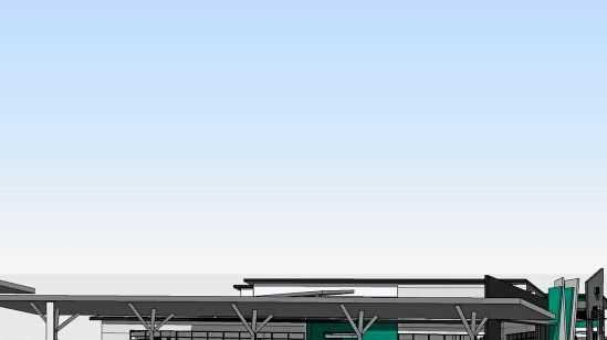 An artist's impression of what the Toowoomba Transport Terminal will look like.
