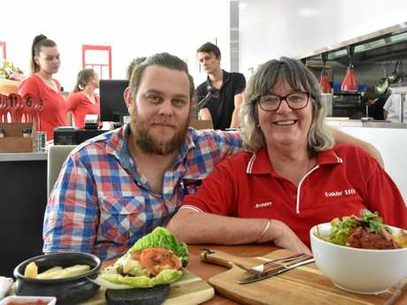 CHEAPER OPTION: Bakin' BITS cafe head chef Josh Quinn and administration manager Jenny Cross have helped open the new eatery.