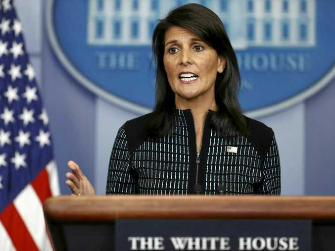 US Ambassador to the United Nations Nikki Haley has again warned North Korea it faces military action over its nuclear program.