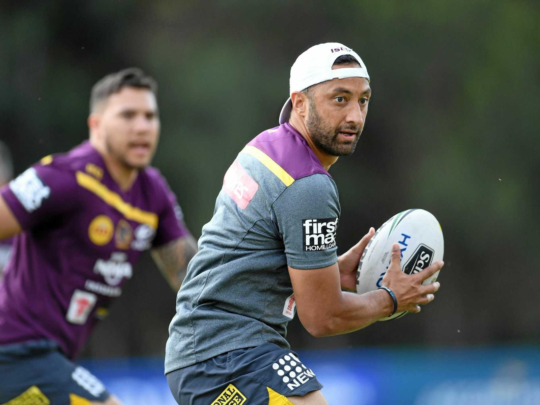 Benji Marshall in training yesterday.