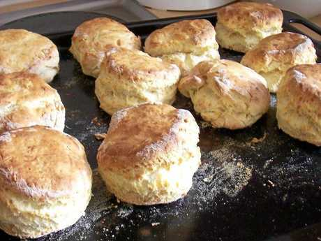 Lemonade scones are made with just 3 ingredients.