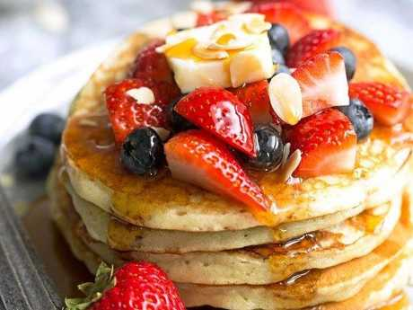 Everyone loves pancakes and the kids will have fun making them with you.