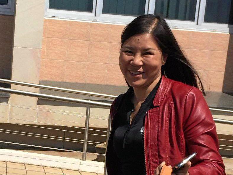Ms Wan-Chin Chen outside Bundaberg Court.