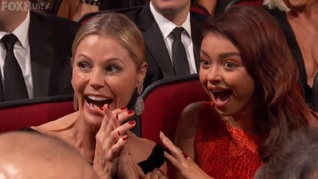 Julie Bowen and Sarah Hyland couldn't quite believe what they were seeing.