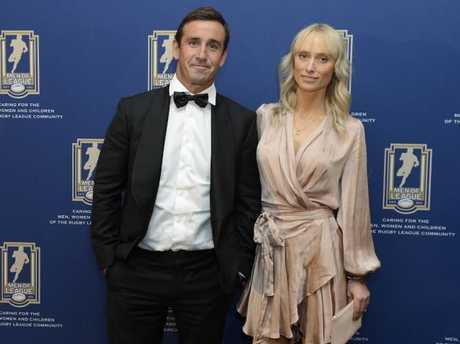 Andrew Johns and his partner Kate Kendall at the Men of League Foundation Gala Dinner.