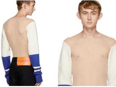 Calvin Klein's see-through jumper.