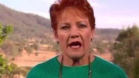 One Nation Senator Pauline Hanson on Sunrise today.