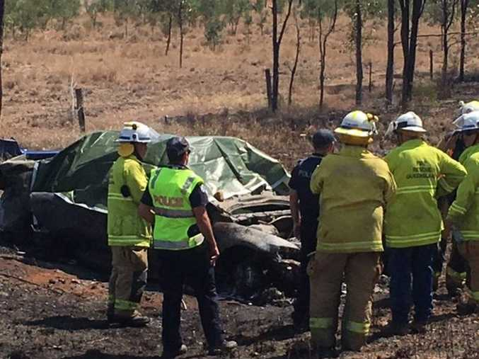 Two women died and two male teenagers were injured in a crash on the Carnarvon Hwy, south of Rolleston this morning.