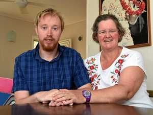 Donna Gilbert and her son Chris from Maryborough.