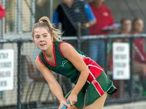 Taigum's Olivia Barsby in action for Redcliffe Leagues Hockey Club. Photo: Andrew Blanchard