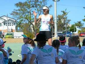 Australian Diamonds' duo share netball and life skills