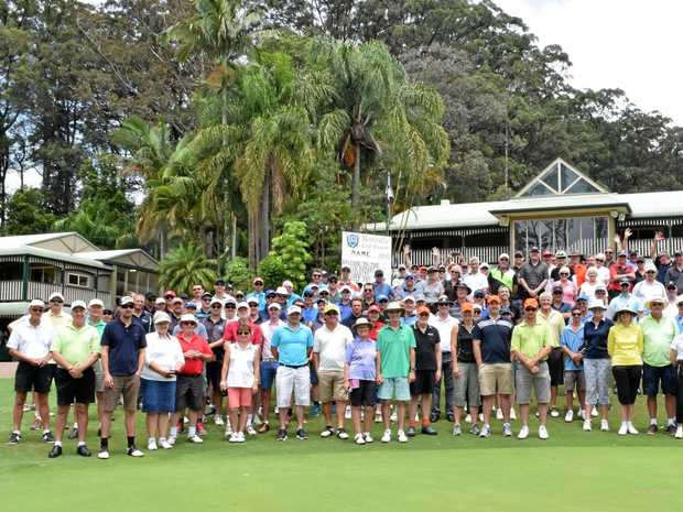 Avid golfers from around the Coffs Coast ready to tee off at the Coffs City Rotary Charity Golf Day.