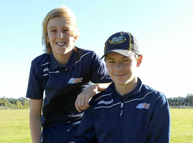 NEXT GENERATION: North Coast soccer stars Myles Hartmann and Charlie Kelly are set to take on the best in the country at the FFA National Youth Championships in Coffs Harbour next week.