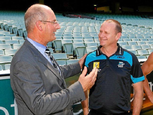 Power president David Koch with coach Ken Hinkley.