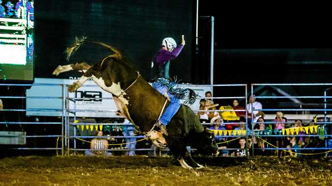 RING ACTION: Kingaroy rider Joshua Jones is favourite for the open bull ride in the Southern Downs Ag Warwick Cowboys Rugby League Bull Ride on Saturday night.