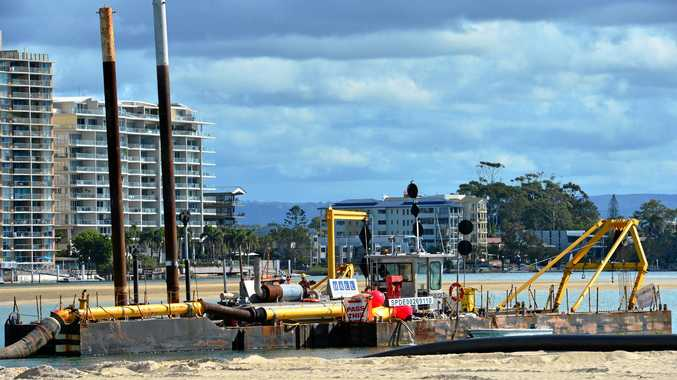 SAND pumping operations at the Maroochy River mouth conclude this week with the dredge to relocated.