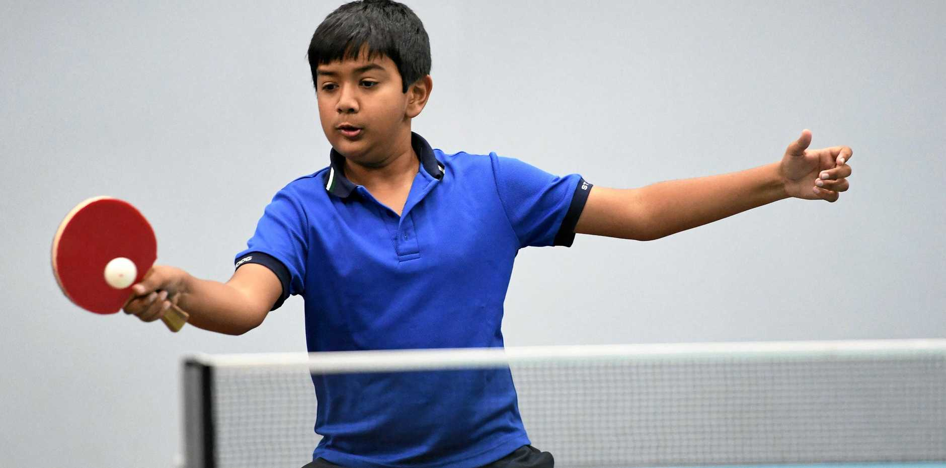 IN ACTION: Atharv Singh Panwar just fell short of the Division 2 title in the term 3 junior table tennis season.