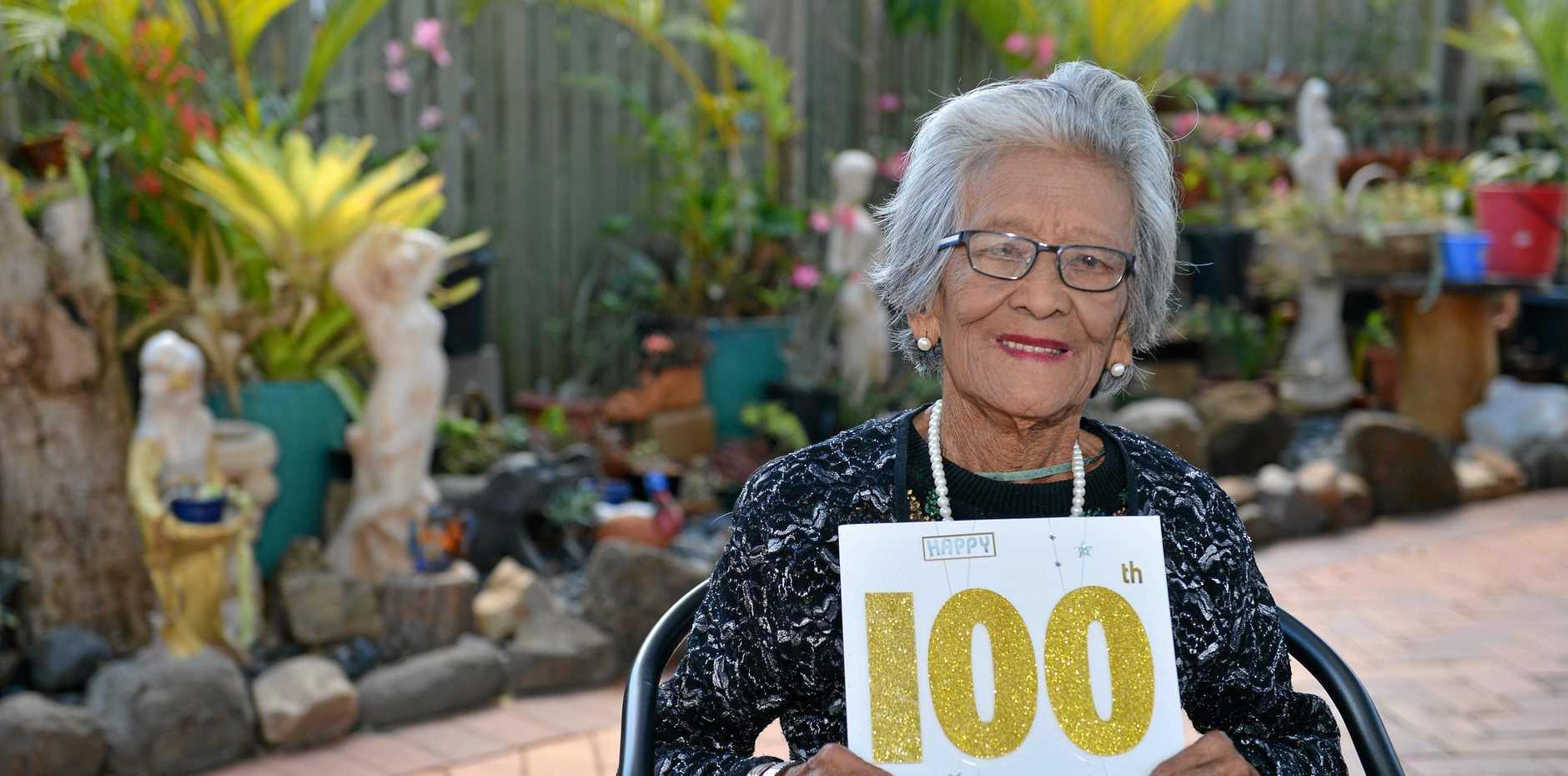 HAPPY BIRTHDAY: Adela Durque celebrates her 100th birthday.