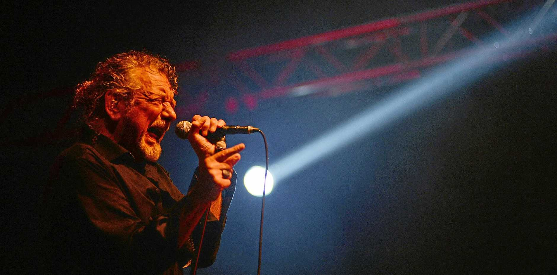 ICON: Former Led Zeppelin frontman Robert Plants performs during the third night of Bluesfest 2013.