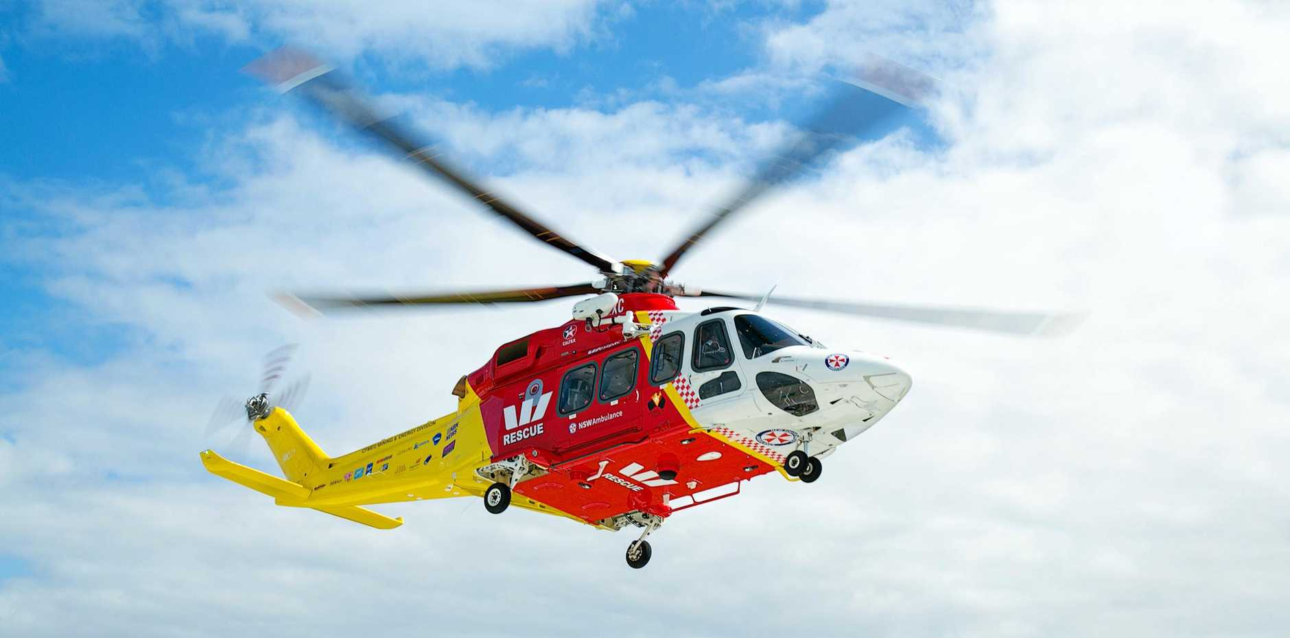 A kayaker has been rescued by the Westpac Rescue Helicopter near Red Rock.