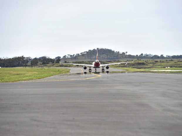FILE PHOTO: Flight leaving airport.