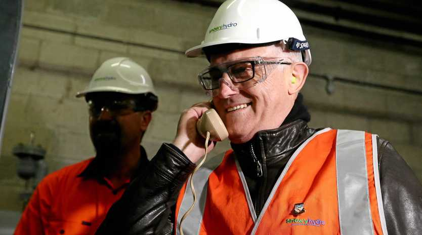 Prime Minister Malcolm Turnbull calls for the Snowy Mountains Control Centre during a Snowy Mountains visit.