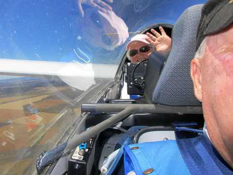 EXPERIENCED FLYER: Jenny Thompson, whose husband Jeremy was killed Tuesday was also a competitive pilot.