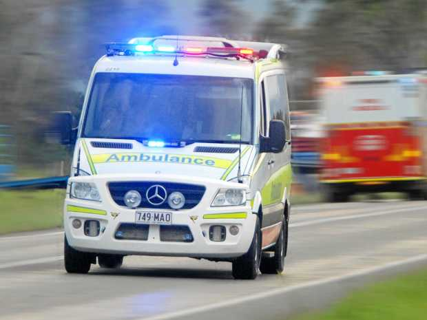 Paramedics were called to Beerburrum after the two-vehicle crash.