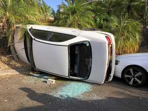 Pair in their 90s hospitalised after car roll-over