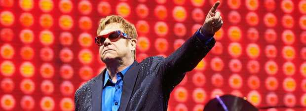 epa06078309 British singer Elton John performs on stage during a concert in Forest Opera in Sopot, 09 July 2017. The concert is part of Wonderful Crazy Night Tour taking place in Europe and North America in 2016 and 2017.  EPA/ADAM WARZAWA POLAND OUT