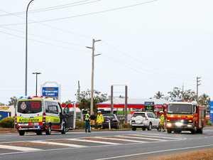 'Young man' hospitalised after crash