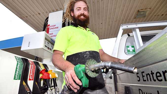Unite fuel price on Unleaded E10 to drop. Jake Nagy fills up with E10 at the United Eli Waters petrol station.
