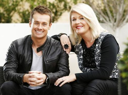 TV Personality Grant Denyer with his wife Chezzi.
