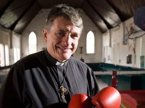Father Dave Smith is an Anglican Priest and professional boxer.Source:News Limited
