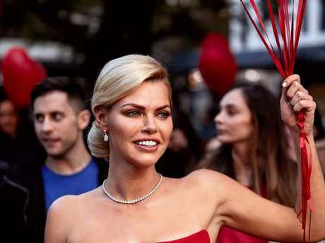Sophie Monk films a TV commercial for the reality series.