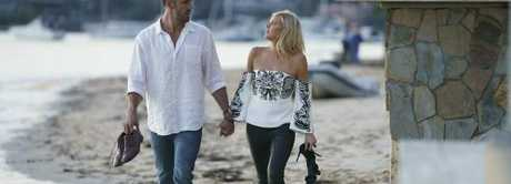Sophie Monk filming a date for The Bachelorette in Cronulla, Sydney.