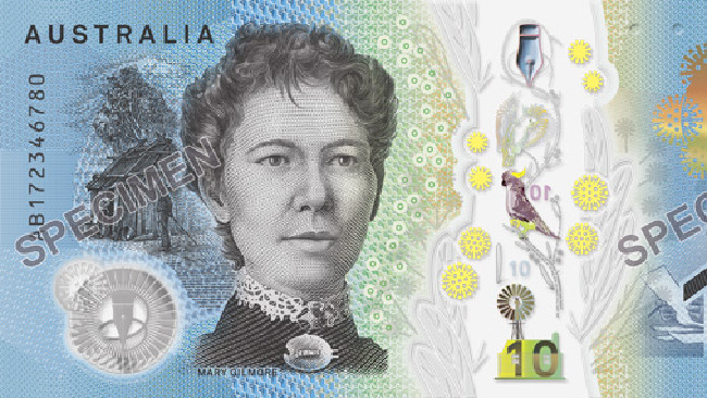 The new ten dollar note.Source:News Corp Australia