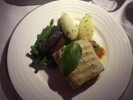 There are health-conscious choices on the menu too, like this grilled kingfish. Picture: Celeste Mitchell