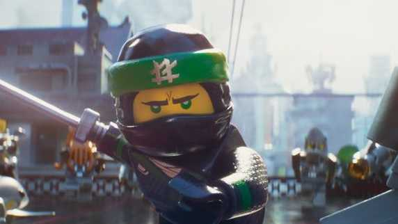 Lloyd (voiced by Dave Franco) in a scene from animated adventure film The LEGO Ninjago Movie.